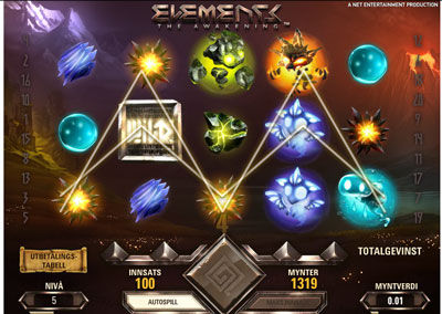 Elements The Awakening video slot