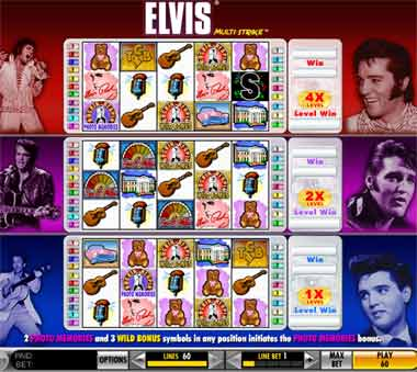 elvis multi strike video slot