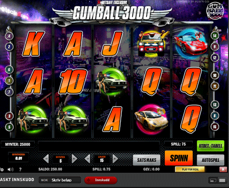 gumball 3000 video slot
