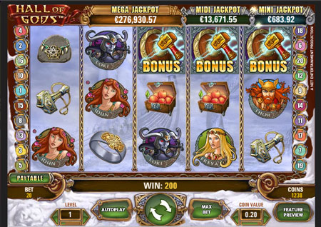 Hall of Gods video slot