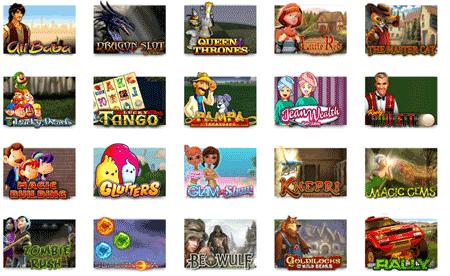 Et utvalg av spill fra leander