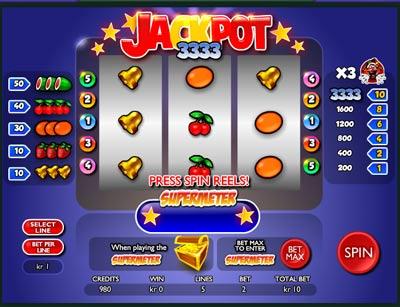 Jackpot 3333 spilleautomat