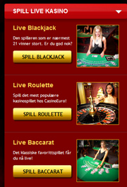live casinospill på CasinoEuro