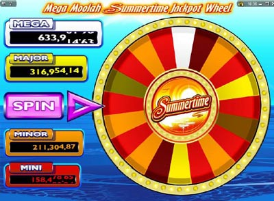 Mega Moolah - Summertime, video slot