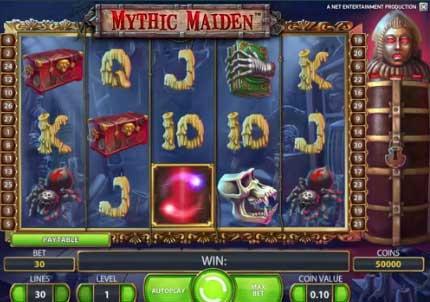 mythi maiden slot spilleautomat